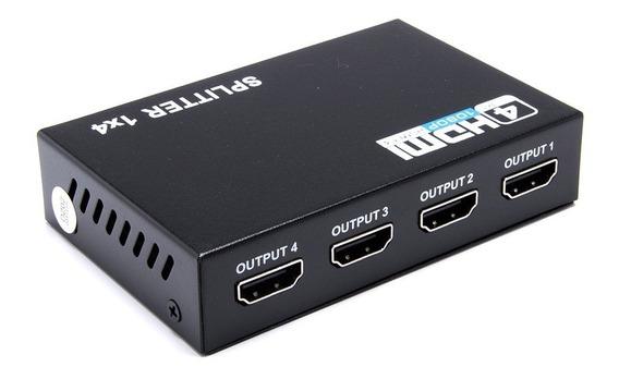 Splitter Distribuidor 1x4 Divisor Full Hd 1.4 Hdmi 3d 1080p