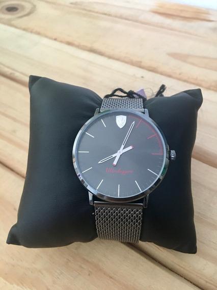 Relógio Original Masculino Ferrari Preto Ultra Slim