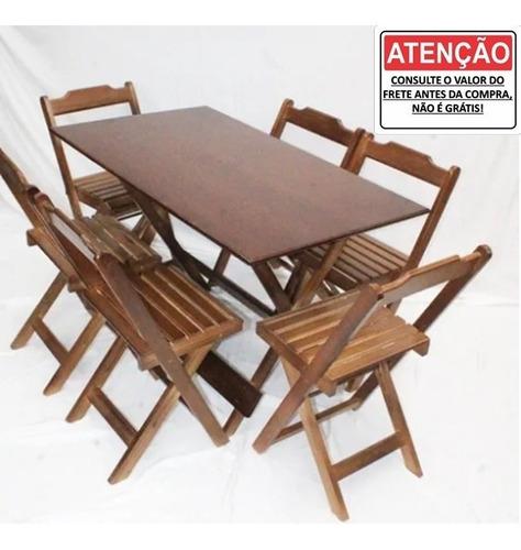 Imagem 1 de 3 de Conjunto Mesa Bar 120x70 Com 6 Cadeiras Para Restaurantes
