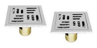 Yf660-8-6p Set 2 Coladeras 10cm Inox Antiolores 6mm