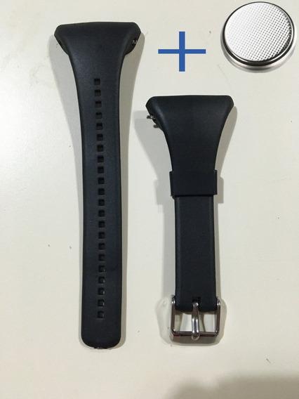 Pulseira Ft7 Ft4 Compatível Polar + Bateria Do Relógio