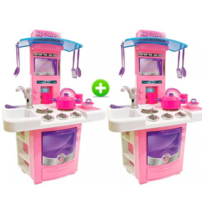 Kit Com 2 Nova Big Cozinha Big Star Fogão Infantil 3 Anos