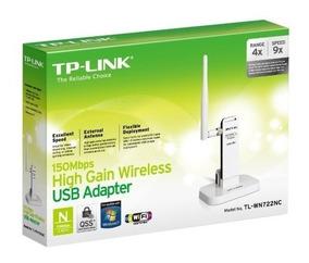 Adaptador Usb Wireless Tp-link Tl-wn722nc Com Extensor Usb
