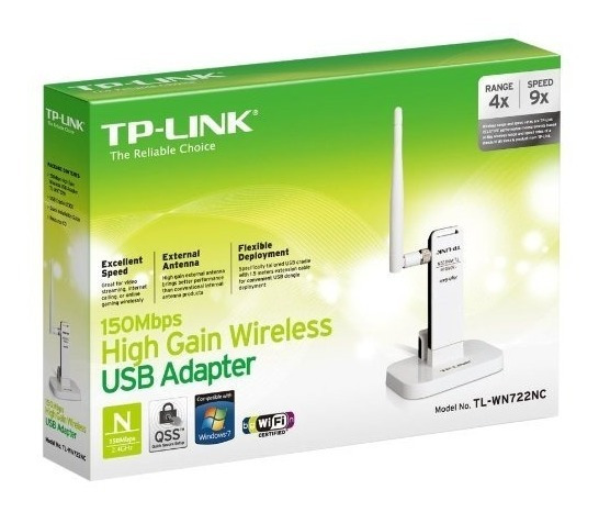 Adaptador Usb Wireless Tp-link Tl-wn722nc Com Extensor Usb