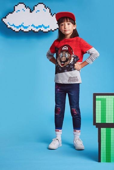 Camiseta Manga Doble Super Mario Textil Rojo/gris Desigual