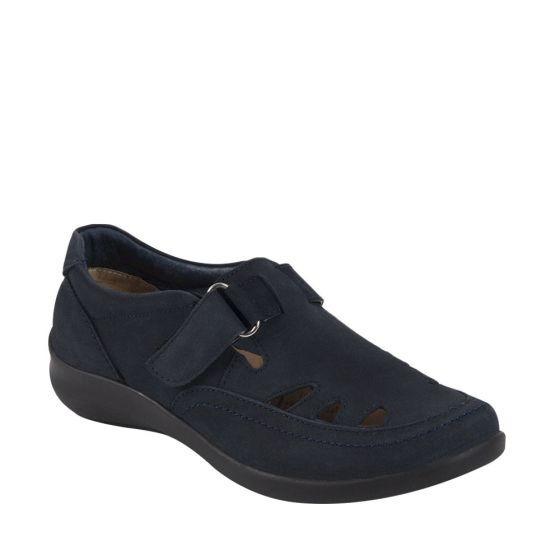 Zapatos Sandalias Para Pie Diabetico O Delicado En Piel Azul