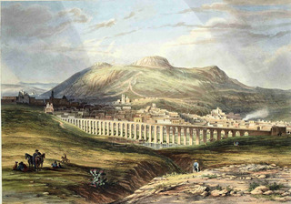 Lienzo Tela Arte Mexicano Vista Zacateca 1840 Daniel Egerton