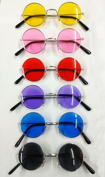 Lentes Lennon X 20 Hippie Anteojos Vidrio Colores Cotillon