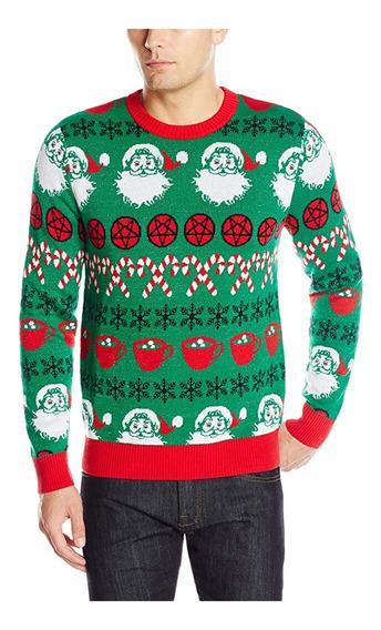 Suéter Navidad Christmas Ugly Sweater Heil Santa Mediano