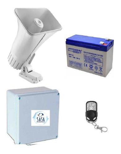Alarma Vecinal Sirena Inalambrica Con Cargador Y Bateria