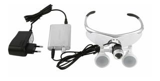 Óculos Cirúrgico Lupa 3,5 X 420mm Com Led Medico Dentista