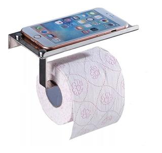 Portarrollo Porta Papel Higienico Con Estante Celular Ac/ino