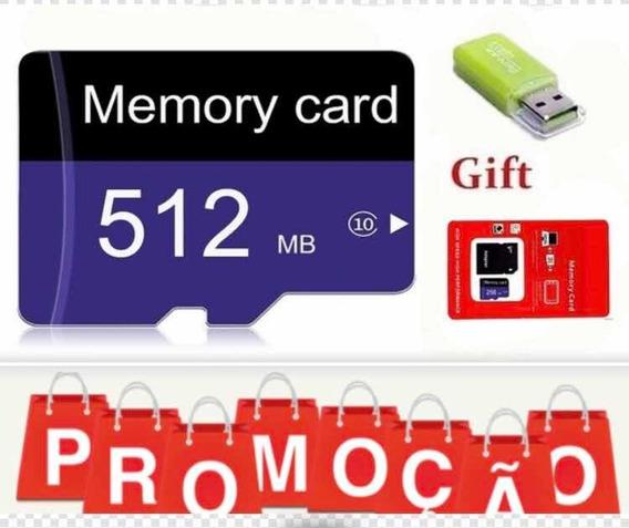 Cartão De Memória 512gb + Adaptador Usb 2.0