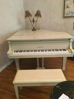 Yamaha G2 Baby Grand Piano In White Serial