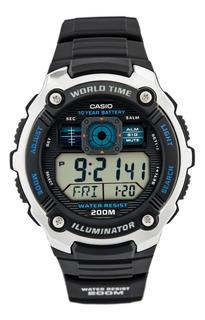 Reloj Casio Ae-2000w Hora Mundial Sumergible Envio Gratis