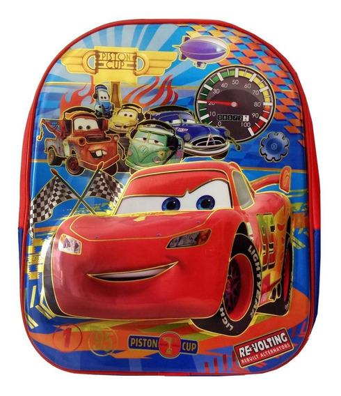 Mochila Escolar Infantil Carros Azul Pequena Relevo 3d Preto