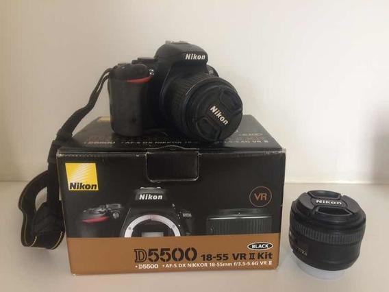 Camera Nikon D5500 + Lentes