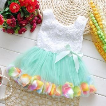 Kit 2 Vestido Princesa Veste Pétalas Rosa Fúcsia -1 A 4 Anos