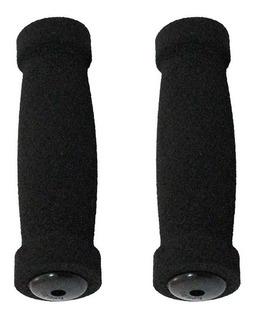 Manoplas De Guidão Comfort Esponja Preta C/ Protetor