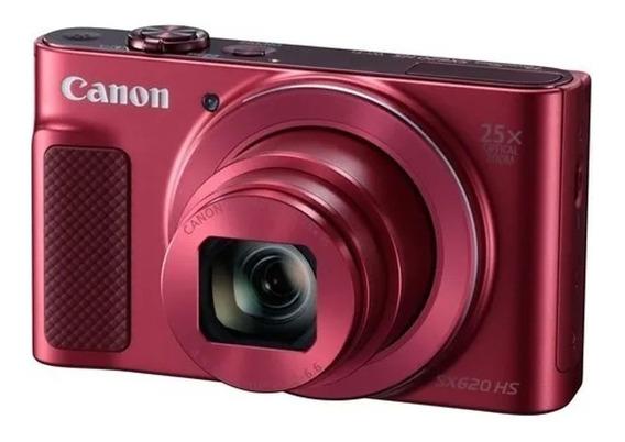 Câmera Canon Powershot Sx620 Hs Vermelha Sx620hs Mostruário