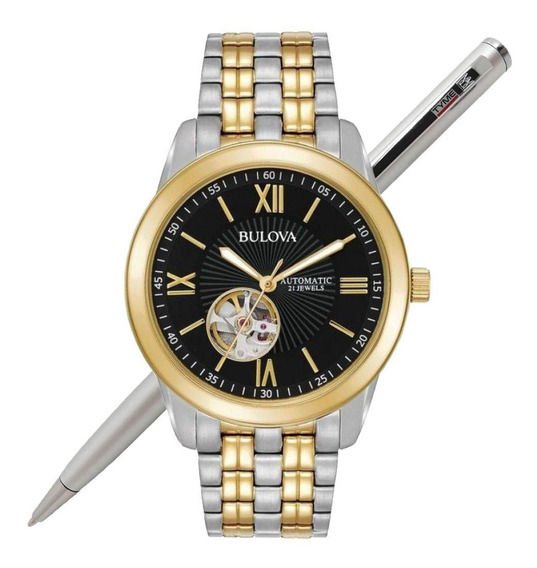 Relógio Bulova Masculino Automático Wb32004p C/ Nota Fiscal
