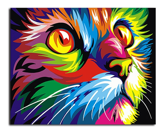 Animal Imagem Abstrata Esmalte Pintura Diy Cor Pintura Tela