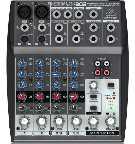 Mesa De Som Xenyx 802 Mixer 110v - Behringer + Nf