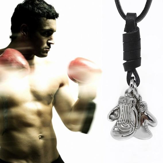 Cordão Colar Masculino Unissex Luvas De Boxe