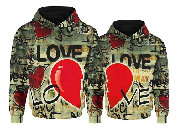 Sudadera Par Sublimada Full Print Amor Y Amistad Love