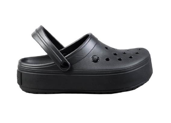 Sandalia Crocs Crocband Platform Mujer Original Negra