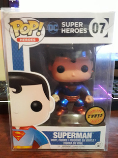 Funko Pop Superman Dc Super Heores Metalico Metallic Chase