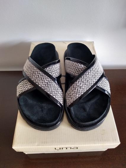 Sandalias Uma De Cuero