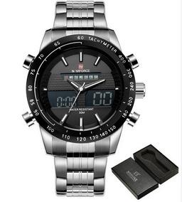 Relógio Pulso Naviforce Em Aço Inoxidável 48mm Lindo Nf9093