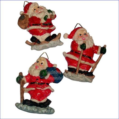 Set (2) Juego 3 Imanes De Santa Navideño O Pared Navidad
