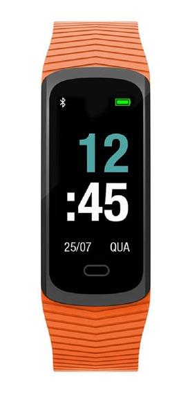 Relógio Mormaii Fitgps Unissex Mob3ac/8l Digital Gps Laranja