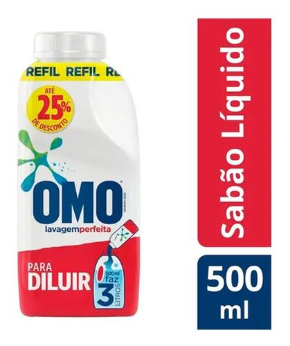 Sabão Líquido Omo Concentrado Lavagem Perfeita - Refil 500ml