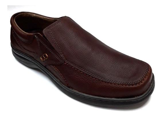Zapato Elastico Cuero Hombre 45/50 Free Comfort Art 6049