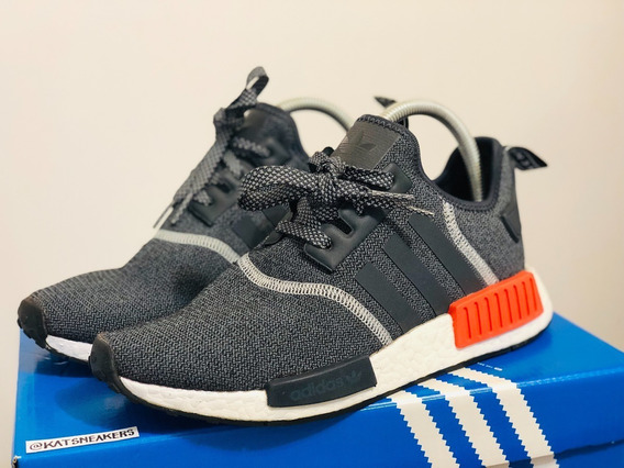 adidas Nmd R1 Wool Grey Solar Red 3m 37 Br Semi Novo