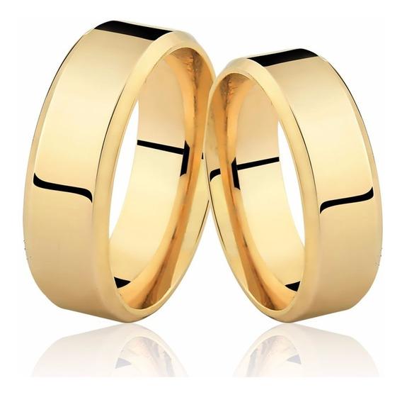 Alianças Ouro 18k 6mm 8 Gramas Casamento Noivado