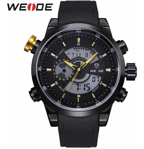 Relógio Weide 3401 Digital Analógico Original Luxo Promoção