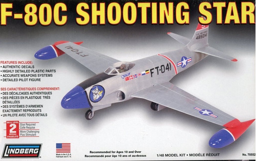 Imagen 1 de 6 de F-80c Shooting Star Kit Plástico 1/48 Lindberg Usa.