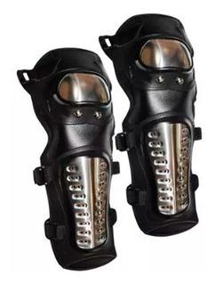 Rodilleras Y Coderas Negro/aluminio Acero Inoxidab