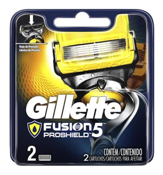 Carga Gillette Aparelho De Barbear Fusion Proshield Com 2 Un
