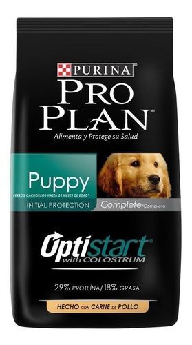 Imagen 1 de 3 de Alimento Pro Plan OptiStart Puppy para perro cachorro de raza mediana sabor pollo/arroz en bolsa de 15kg
