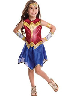 Disfraz De Mujer Maravilla Película Infantil, Grande!