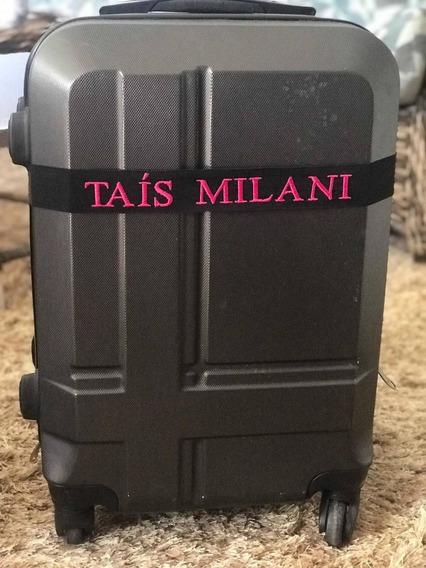 Kit Com 5 Unidades - Identificador De Mala Personalizado- Etiqueta - Mala - Viagem, Tag - Faixa.