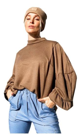 Sweater De Lanilla Manga Globo S Al Xl