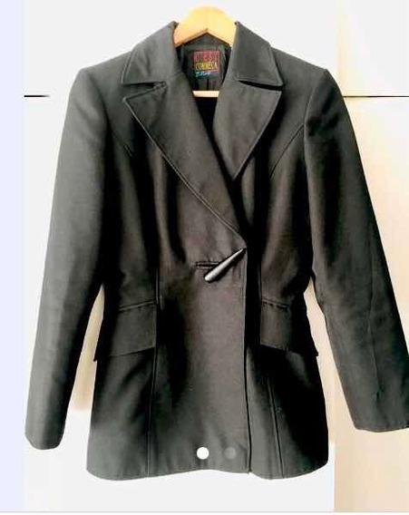 Saco Negro Clasico Entallado Talle 40-42 Importado Francia.