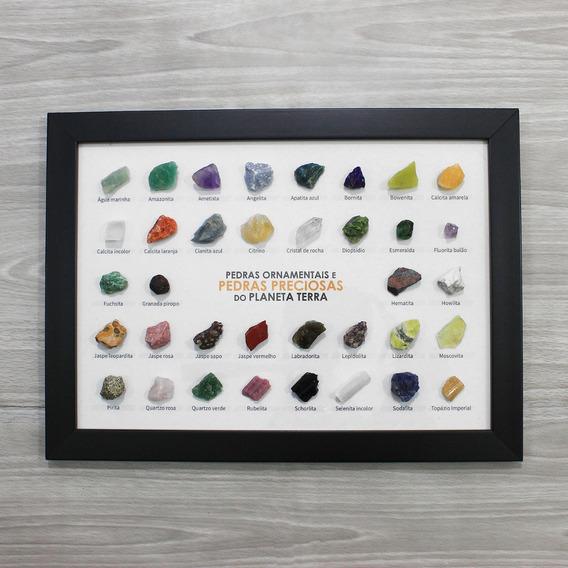 Quadro Pedras Preciosas E Ornamentais Do Planeta
