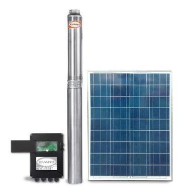 Equipo De Riego Solar Bomba Sumergible Hp Pozo Profundo Panel Caja Pulg Evans Lpm Solar-power-250